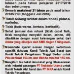 PERSYARATAN PPDB TAHUN PELAJARAN 2018/2019
