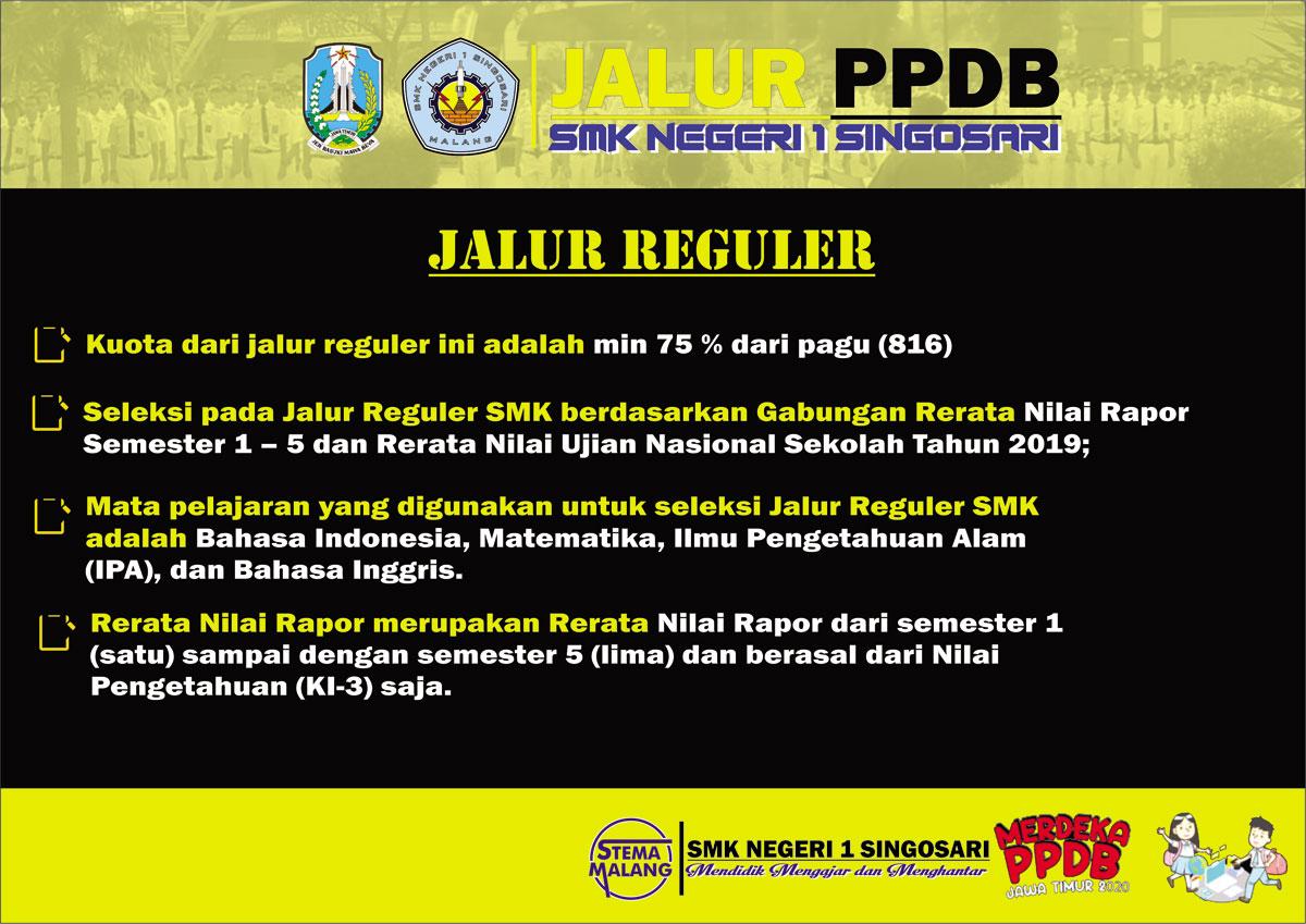PPDB SMKN 1 Singosari 2020 Jalur Reguler